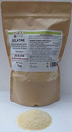 Gelatina neutra sin sabor y olor,200 bloom,Granulada,Gastronomía profesional,Garantia INKAFOODS