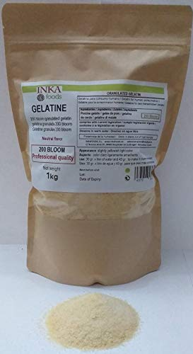 Professional grade granulated gelatin, neutral flavor – 1kg