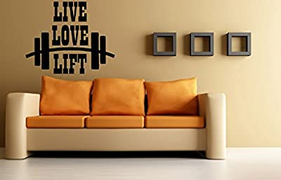 Fitness Bodybuilding Gym Inspirational Live Love Lift Sticker Decal Wall Decor Art Fit For Life Art …
