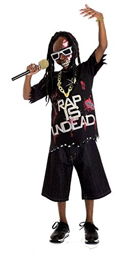 Rap Costume - Zombie Icons Rap Star Costume, Medium (7/8)