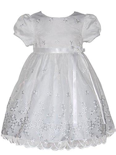 Carouselwear Hand Smocked Baby Girls White Embroidered Christening Dress (Heirloom Smocked Dresses)
