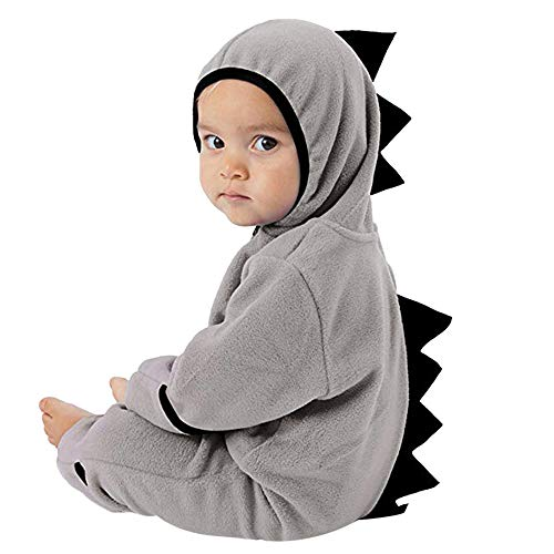 Woaills-Tops 2018 New!!Infant Toddler Zip Clothes Jumpsuit,Baby Girls Boys Dinosaur Hoodie Romper (6-12 Months, Gray 2)