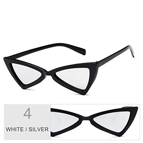 Atrás Gato De Mujer BLACK De Del TIANLIANG04 Negro Gafas Vintage Uv400 Blanco Sol Mujeres Gris De SILVER Señor Gafas De Sol Gafas Ojo Fzwq7X