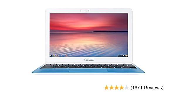 ASUS C201 11 6 Inch Chromebook (Rockchip, 4 GB, 16GB SSD, Pearl White/Light  Blue)