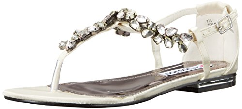 Lips Satin 2 Women Too Ivory Nikita Sandal Flat Too 7gRwgdq