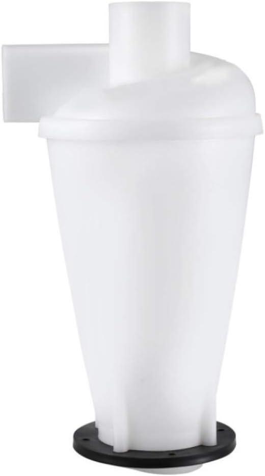HJCE Colector De Polvo del Extractor Industrial del Ciclón, Colector De La Separación del Polvo del Filtro del Aspirador De La Carpintería Turbo con La Brida Blanco