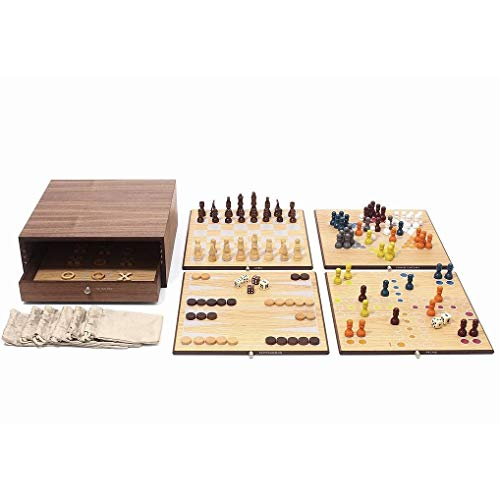 Swing Design Collector's Edition 5-in-1 Game Set with Walnut & Oak Finish ()