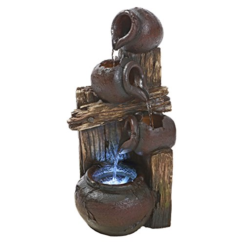 Water Fountain with LED Light - Casa Chianti Water Urns Garden Decor Fountain - Outdoor Water Feature by Design Toscano