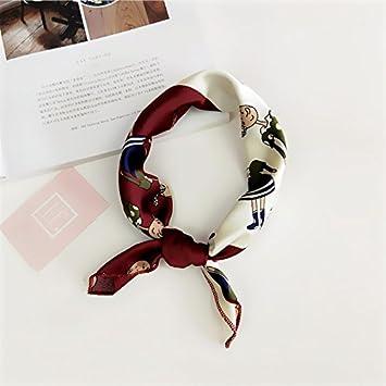 TIANLU La jeune fille foulard soie 50X50cm Petit Carré foulard de soie  petit immeuble moderne 28- 366ae095983