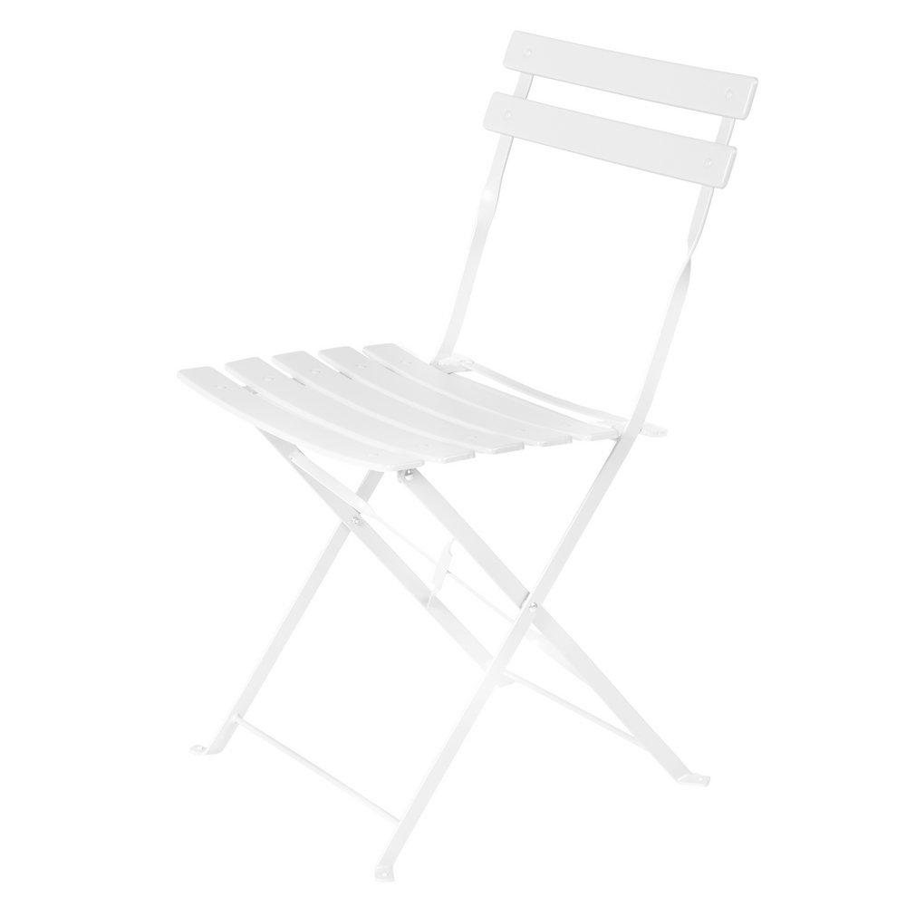 Sedia pieghevole in acciaio bianca da esterno per Terrazzo Garden–Lola Home