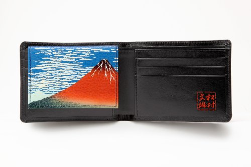 none Seal Fine fine Wind None Wallet fine Seal Case Clear Morning fold Wind Japanese Bi Cowhide Red a Black Matsumura Production Fumio with Id Two Morning Clear Men's Morning Clear Wind Painting style nxBAwq1CR