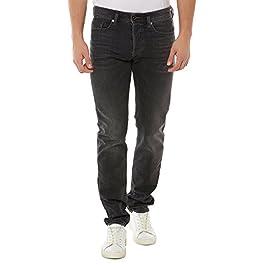 Diesel Men's Buster Regular Slim Tapered Jeans in Denim