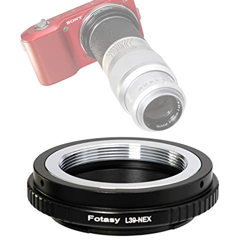 Fotasy Copper Adjustable M39 Lens to Sony E-Mount Adapter, Compatible with Leica M39 39mm Lens & Sony E-Mount Camera NEX-5T NEX-6 NEX-7 a3000 a3500 a5000 a5100 a6000 a6300 a6400 a6500 ()