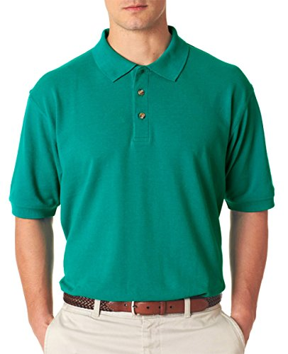 (UltraClub Men's Relaxed Fit Taped Neck Pique Polo Shirt, X Large,)