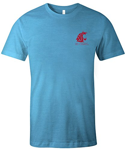 (NCAA Washington State Cougars Adult NCAA Aztec Square Short sleeve Triblend T-Shirt,XXL,Aqua )