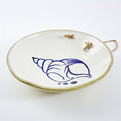 Two's Company Mykonos Set of 9 Hanging Decorative Plates