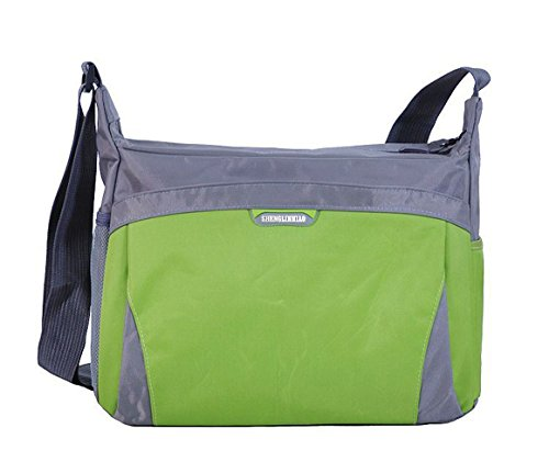 FTSUCQ Womens Nylon School Shoulder Handbags Casual Totes Messenger Bags Green Satchels