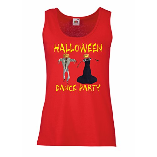 lepni.me Sleeveless t Shirts Women Cool Outfits Halloween Dance Party Events Costume Ideas (Medium Red Multi Color) for $<!--$14.94-->