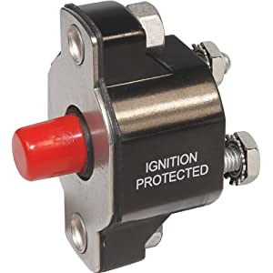 Blue Sea Systems Medium Duty Push Button Reset Only 50A Circuit Breaker