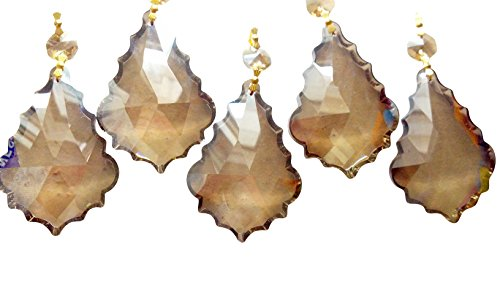 tals Champagne French Cut Prism Ornament Pack of 5 ()
