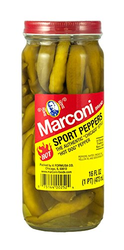 Marconi, Hot Sport Peppers, 16 oz ()