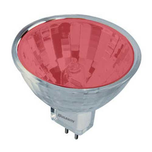 Bulbrite 637350 - EXN/R - Red 50 Watt MR16 Style Halogen Light Bulb, 12 Volt, 38 Degree Beam ()