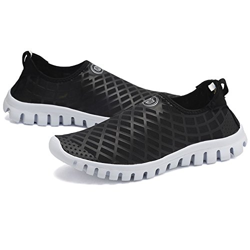 CIOR Quick-Dry Water Sports Shoes Men and Women's Multifunctional for Swim Walking Yoga Lake Beach Garden Park Driving Boating,SJC02,L.Black,45 4