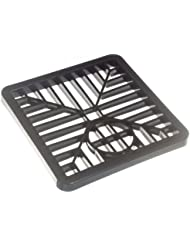 10 Of Gulley Grid Drain Cover Lid Black Pvc 6 Inch 150Mm Square