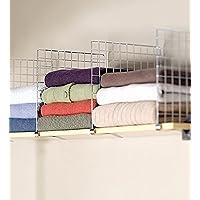 Longitud Extensible 73 Rack Armario Ajustable Divisor para Guardarropas para Dormitorio Cocina Ba/ño EBTOOLS Estante Separador de Armario Extensible 128 cm