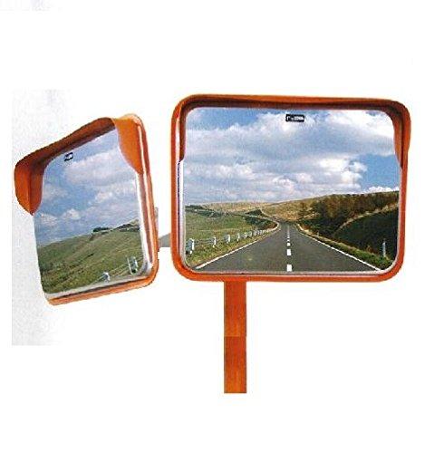 ステンレスカーブミラー 角型2面鏡 195x295mm 道路反射鏡 B00AIG9QK6 15000