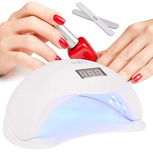 GuTe Nail Dryer Lamp,48W LED UV Light Quick Curing for UV Gel Builder&LED Gel Polish
