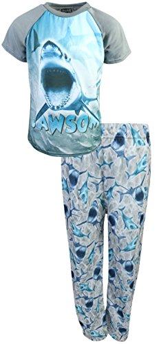 Quad Seven Boys Graphic Sublimation Pajama Set, Grey Shark, Size - Size Boys Pajamas Set 4