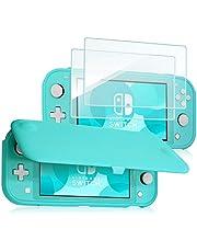 ProCase för Nintendo Switch Lite Flip fodral med 2-pack skärmskydd i härdat glas, smalt mjukt skydd anti-repor skyddsfodral för Nintendo Switch Lite 2019 – turkos