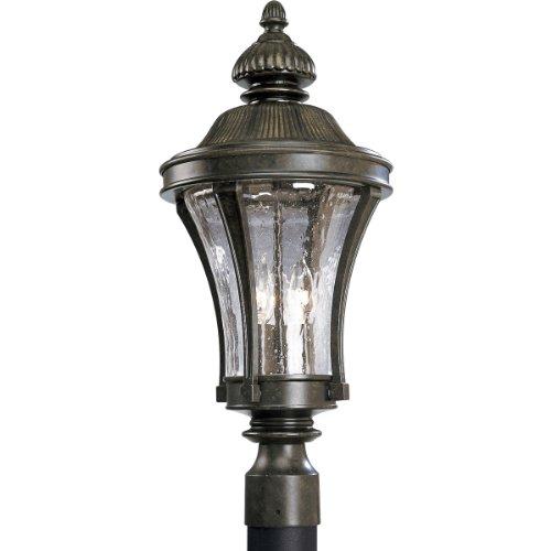 Progress Lighting P5438-77 3-Light Nottington Post Lantern, Forged Bronze -