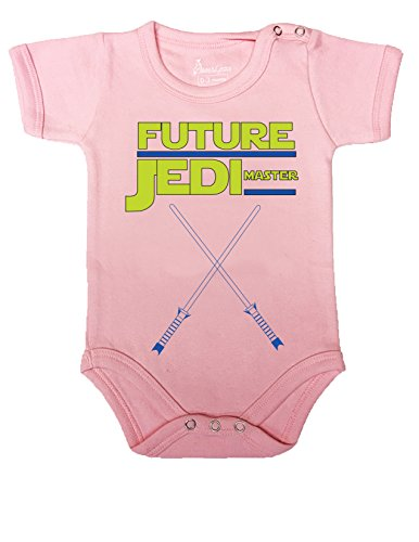 BABY ROMPER ONESIE UNISEX FUNNY FUTURE JEDI MASTER GIFT WRAPPED A&G BRAND (0-3 M, (Clever Halloween Invitations)