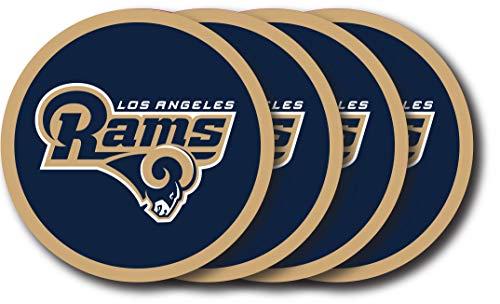 - NFL Los Angeles Rams Vinyl Coaster Set (Pack of 4)
