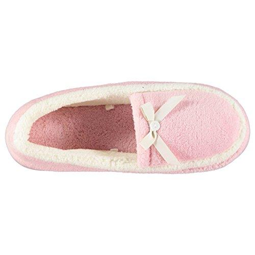 Mystify Collection Mujer Botones Pantuflas Zapatos Ligero Textile Calzado Rosa 6 (39)