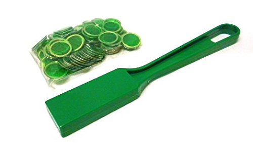 (Bingo Magnetic Wand with 100 Chips - Green)
