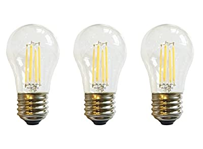 (3)-LED Bulb Anyray Compatible Replacement for Frigidaire 316538901 Light Bulb ( 40W Equival )