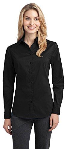 s Stretch Poplin Shirt, Black, XX-Large ()