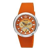 Philip Stein Women's F43S-TS-O Quartz Stainless Steel Orange Dial Watch from Philip Stein
