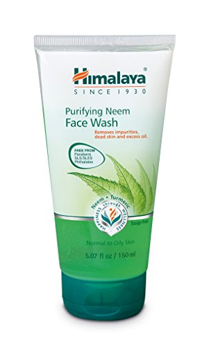 Turmeric Face Wash - Himalaya Purifying Neem Face Wash with Neem and Turmeric for Occasional Acne, 5.07 oz (150 ml)