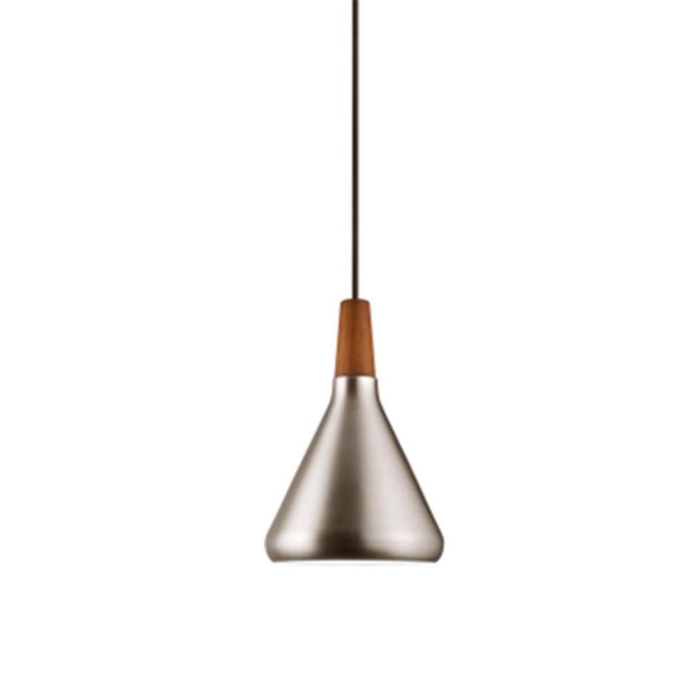 Leuchter-modernes minimalistisches Mode-Restaurant-Licht-Bar-Nachttisch-Küchenbeleuchtung (18 × 27Cm) 60W, Silber