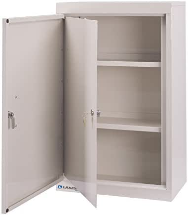 Lakeside Narcotic Cabinet, Double Door/Double Lock, 2 Adjustable Shelves