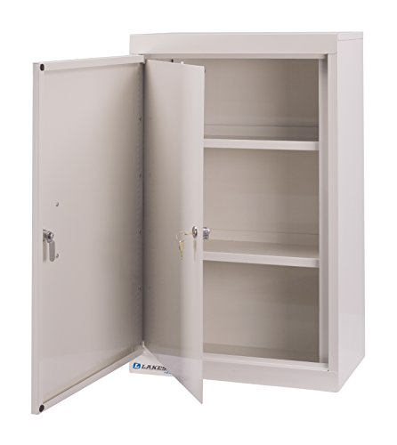 Lakeside LNC-6D Narcotic Cabinet; Double Door, Double Lock, (2) Adjustable Shelves, Beige, 18