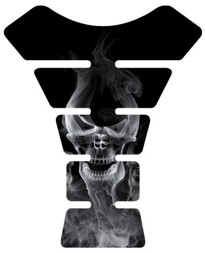 Motorcycle Smoke Skull Sportbike Gel Tank Pad tankpad Protector ()