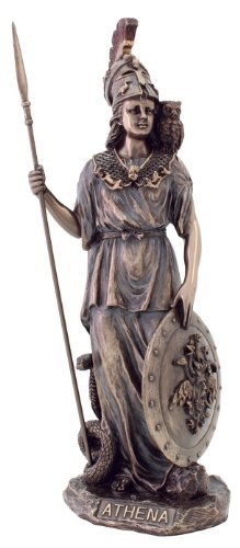 Athena Statue - Goddess of Wisdom, War, & the Arts - Greek Mythology - Magnificent !! - Greek Art Statues