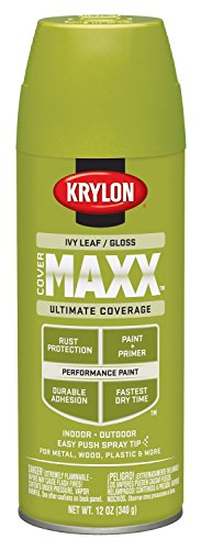 Krylon K09126000 COVERMAXX Spray Paint, Gloss Ivy Leaf, 12 O
