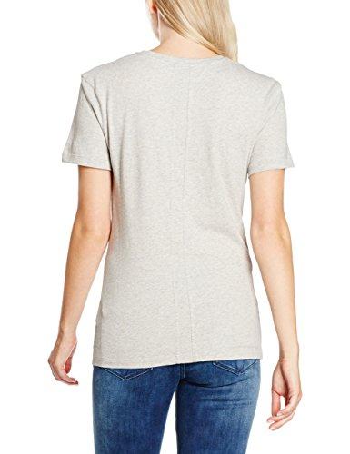 Calvin Klein Jeans Damen T-Shirt SHRUNKEN TEE, Camiseta Para Mujer Gris (Light Grey Heather 038)