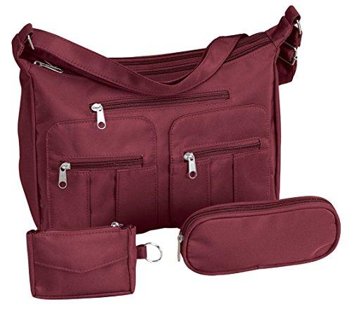 (Microfiber 3-Piece Handbag Set)